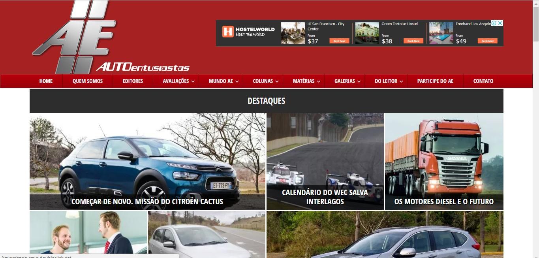 ad46065d0 ... pelo mundo automobilístico e transformou-se em um site completo