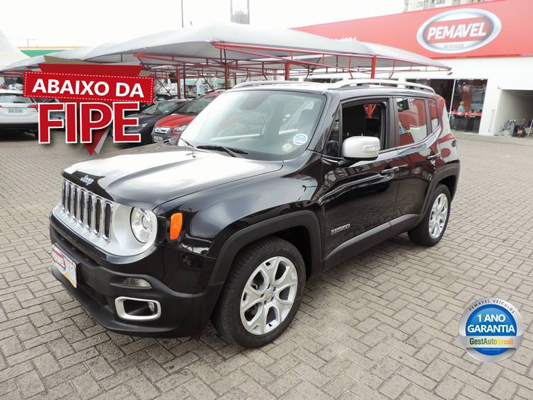 JEEP RENEGADE 1.8 16V FLEX LIMITED 4P AUTOMÁTICO 2017